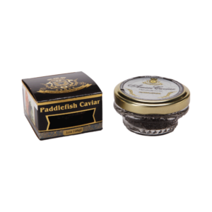 paddlefish caviar in luxury box