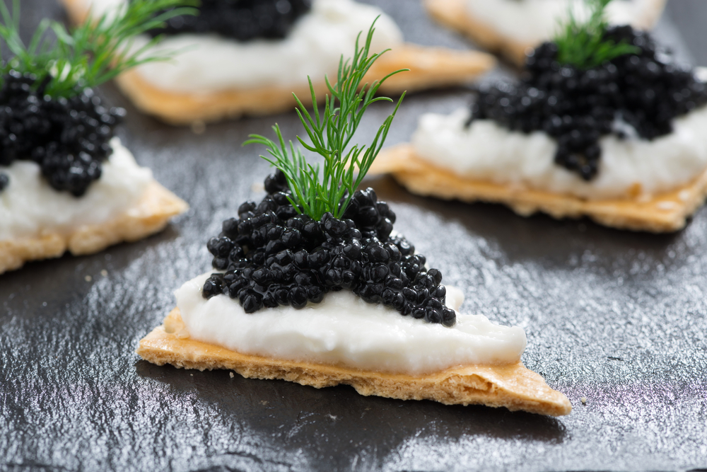 Serving Caviar at Holiday Parties