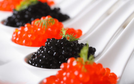 Serving Caviar in Holiday Parties