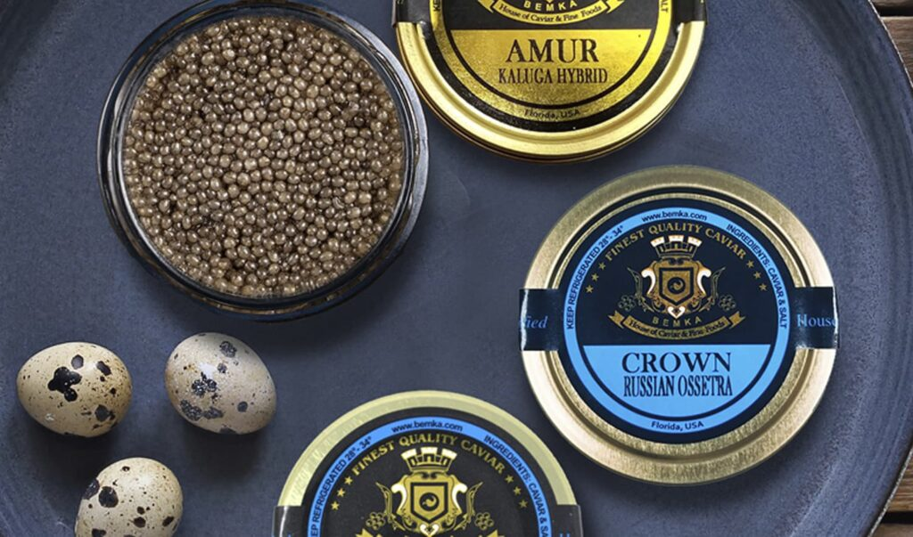 Quail eggs with Caviar
